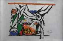 contemporary Serigraphs Art Painting title Yeh Kaun Sa Modh Hai Umar Ka 11 by artist M. F. Husain