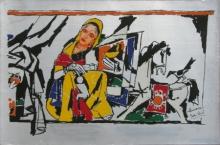 Figurative Serigraphs Art Painting title Yeh Kaun Sa Modh Hai Umar Ka 12 by artist M. F. Husain
