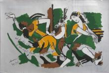 Figurative Serigraphs Art Painting title Yeh Kaun Sa Modh Hai Umar Ka 15 by artist M. F. Husain