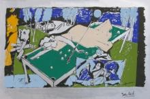 Figurative Serigraphs Art Painting title Yeh Kaun Sa Modh Hai Umar Ka 5 by artist M. F. Husain