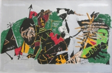 Figurative Serigraphs Art Painting title Yeh Kaun Sa Modh Hai Umar Ka 7 by artist M. F. Husain