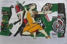 Figurative Serigraphs Art Painting title Yeh Kaun Sa Modh Hai Umar Ka 8 by artist M. F. Husain