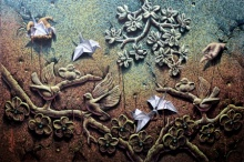 Figurative Acrylic Art Painting title 'Freedom' by artist Prashanta Nayak