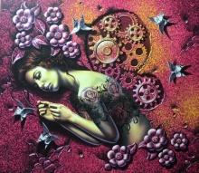 Figurative Acrylic Art Painting title 'Charm' by artist Prashanta Nayak