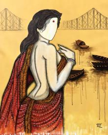 contemporary Acrylic Art Painting title Aprijitha by artist Mrinal Dutt