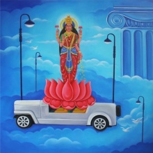 Fantasy Acrylic Art Painting title 'Samrudhhi' by artist Anand Kumar