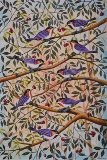 Birds Painting 50 | Painting by artist Santosh Patil | postercolor | Paper