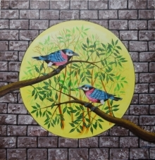 Birds Painting 105 | Painting by artist Santosh Patil | acrylic | canvas