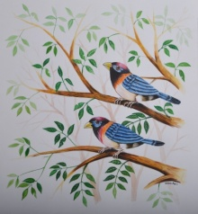 Santosh Patil | Watercolor Painting title Birds Painting 27 on - | Artist Santosh Patil Gallery | ArtZolo.com