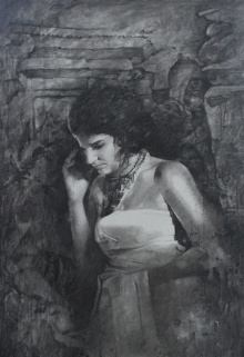 Royal Era | Painting by artist Ajay Sangve | charcoal | paper