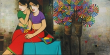 Figurative Acrylic Art Painting title 'Untitled 4' by artist Anand Panchal