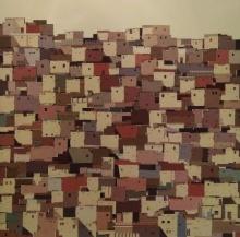 Cityscape Acrylic Art Painting title 'Untitled 4' by artist Madan Pawar