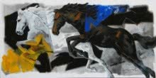 Galloping Horse 3 | Painting by artist Devidas Dharmadhikari | acrylic | Canvas
