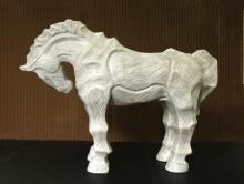 Fiberglass Sculpture titled 'Horse 2' by artist Devidas Dharmadhikari