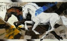 Animals Acrylic Art Painting title Horse Series 127 by artist Devidas Dharmadhikari