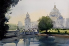 art, beauty, painting, watercolor, paper, victoria memorial, original