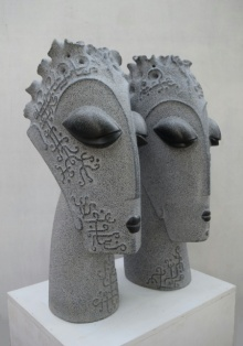 Pankaj Gahlot | Couple 2 Sculpture by artist Pankaj Gahlot on Black Marble | ArtZolo.com