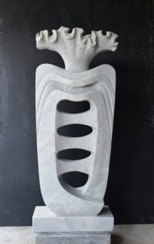 Makrana Marble Sculpture titled 'Growth' by artist Pankaj Gahlot