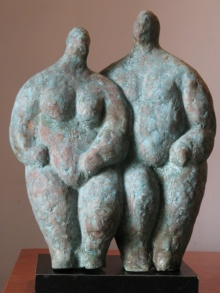 Couple 2 | Sculpture by artist Shankar Ghosh | Bronze
