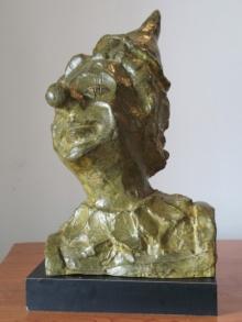 Shankar Ghosh | Court Jester Sculpture by artist Shankar Ghosh on Bronze | ArtZolo.com