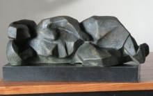 art, beauty, sculpture, bronze, lying lady, original