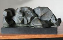 Liying Lady | Sculpture by artist Shankar Ghosh | Bronze