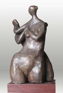 Lovers 4 | Sculpture by artist Shankar Ghosh | Bronze