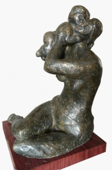 Mother And Child 3 | Sculpture by artist Shankar Ghosh | Bronze