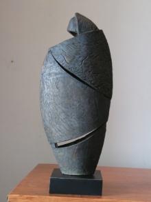 Shankar Ghosh | Pensive Mood Sculpture by artist Shankar Ghosh on Bronze | ArtZolo.com