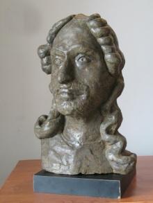 Shankar Ghosh | Tagore Sculpture by artist Shankar Ghosh on Bronze | ArtZolo.com