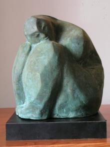 Shankar Ghosh | Waiting Sculpture by artist Shankar Ghosh on Bronze | ArtZolo.com