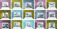 Mili Mishra | My Cats Fantasy Life 1 Printmaking by artist Mili Mishra | Printmaking Art | ArtZolo.com