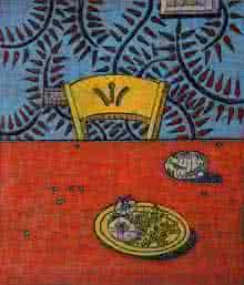Tapan Madkikar | I Need A Knife Printmaking by artist Tapan Madkikar | Printmaking Art | ArtZolo.com