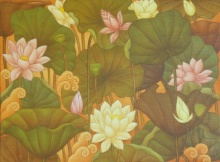 Nature Acrylic Art Painting title A Lotus by artist Roy K John