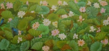 Animals Acrylic Art Painting title Lotus Series 2 by artist Roy K John