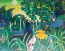 Nature Acrylic Art Painting title Nature by artist Murali Nagapuzha