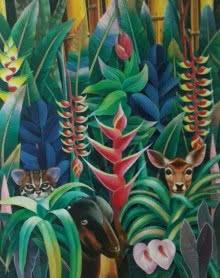 Nature Acrylic Art Painting title Nature 2 by artist Murali Nagapuzha