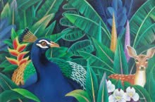 Nature Acrylic Art Painting title Nature 3 by artist Murali Nagapuzha