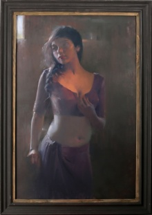 Figurative Oil Art Painting title Untitled 3 by artist Dilip Dudhane