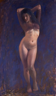 Nude Oil Art Painting title 'Untitled 9' by artist Dilip Dudhane