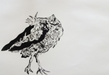 art, printmaking, paper, etching, bird