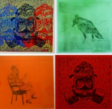 art, printmaking, wood cut, etching, drypoint