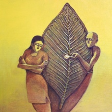 Love 2 | Painting by artist Virendra Chopde | acrylic | Canvas