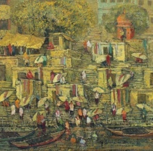 Banaras 5 | Painting by artist Yashwant Shirwadkar | oil | Canvas
