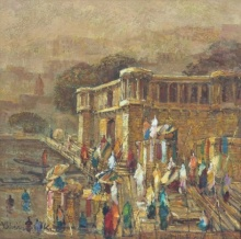 Banaras 6 | Painting by artist Yashwant Shirwadkar | oil | Canvas