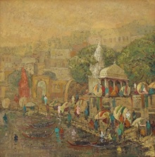 Banaras 8 | Painting by artist Yashwant Shirwadkar | oil | Canvas