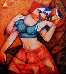 Figurative Acrylic Art Painting title The Aim by artist Nawal Kishore