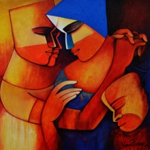 Figurative Acrylic Art Painting title 'Untitled 2' by artist Nawal Kishore