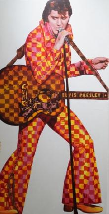 Figurative Acrylic Art Painting title Elvis Presle by artist Sonaly Gandhi
