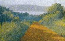 Nature Acrylic Art Painting title Golden Light by artist Suraj Lohar